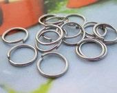 Silver Metal Jumprings--200 pcs 8x0.7mm Nickel Free Antique Silver Jump Rings