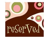 Reserved Listing for Kim