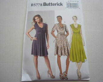 Pattern Ladies Dress  3 Styles SIzes 8 to 16 Butterick 5778