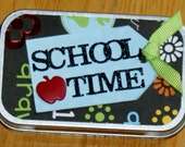 School Scrapbook Mini Album Preschool Teacher Gift Scrapbook Album in a Tin School Accordian Scrapbook Album