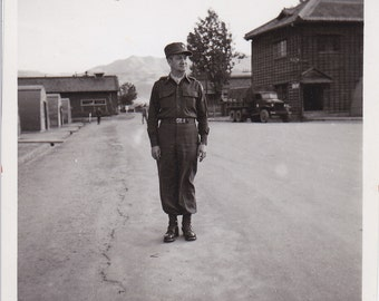 Man in Uniform - Vintage Photograph - Vernacular, Ephemera, Found Photo (ZZ)