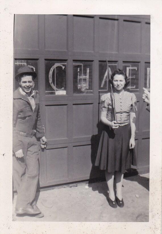 Girl With Gun Vintage Photograph (A)