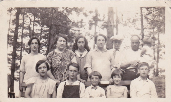 Family in the Woods Vintage Photograph (OO)