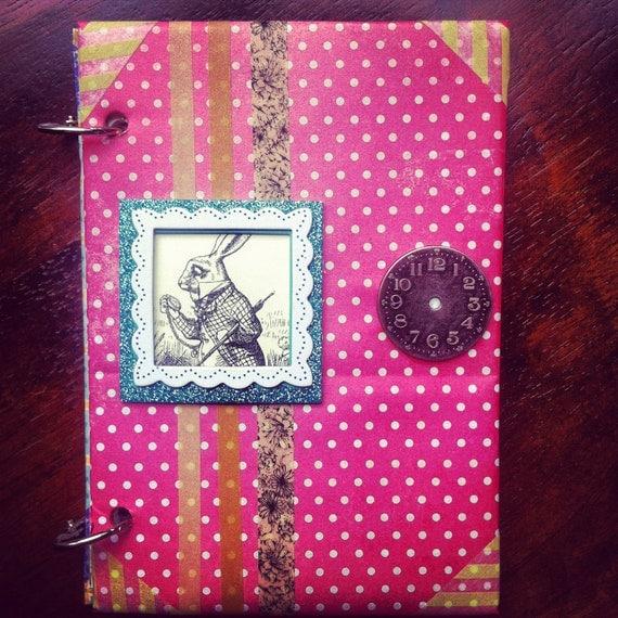 Alice in Wonderland Tea Party Inspired Journal, Scrapbook, Smash Book