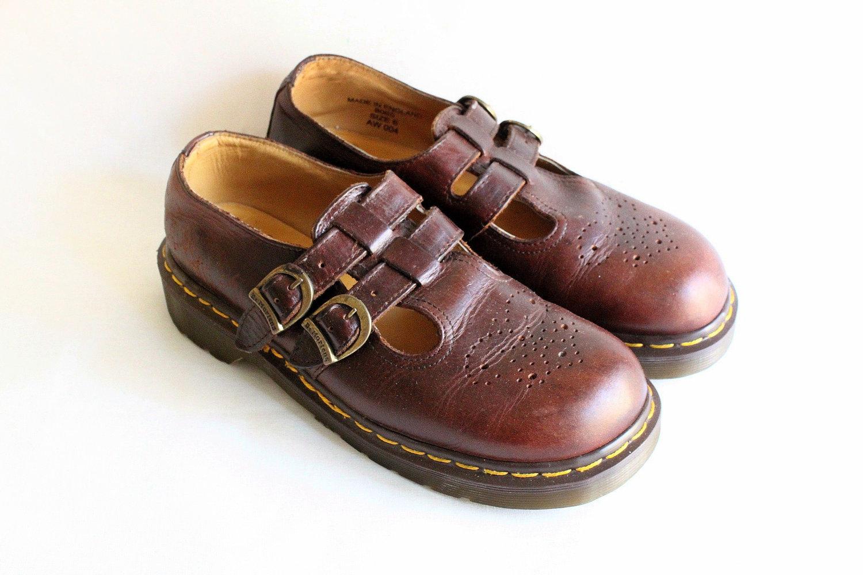 vintage dr martens mary jane platform chestnut brown leather. Black Bedroom Furniture Sets. Home Design Ideas