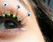 Googly Eye Eyelash Jewelry - Halloween false eyelashes with wiggly eyes