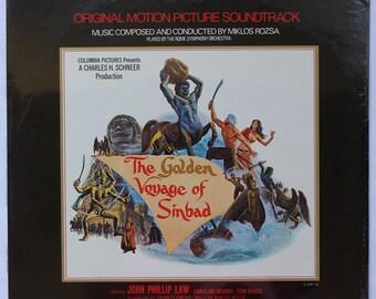"1970s ""Golden Voyage of Sinbad"" Vinyl Soundtrack (1974) - Sealed"