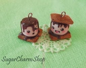 Cute/Kawaii S'more charm - necklace or earrings