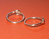 Tiny Silver Hoop Earrings