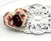 Felt brooch jewelry jewellery uk seller vintage Ruby Rock