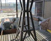 Riveted industrial furniture -  Nightstand, cafe or art display table