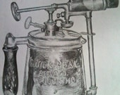 Custom listing (for Charles) Blow torch drawings
