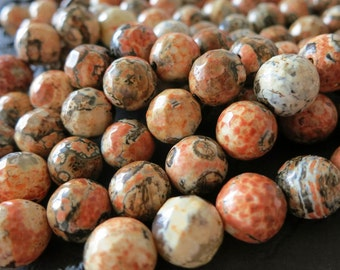 3 str -Earth Red Black Agate 10mm Round ball Faceted Beads-- 37pcs/Strand