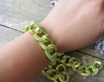 6ft Green Aluminum Jewelry Flat Oval Chains 18x23mm -K8608