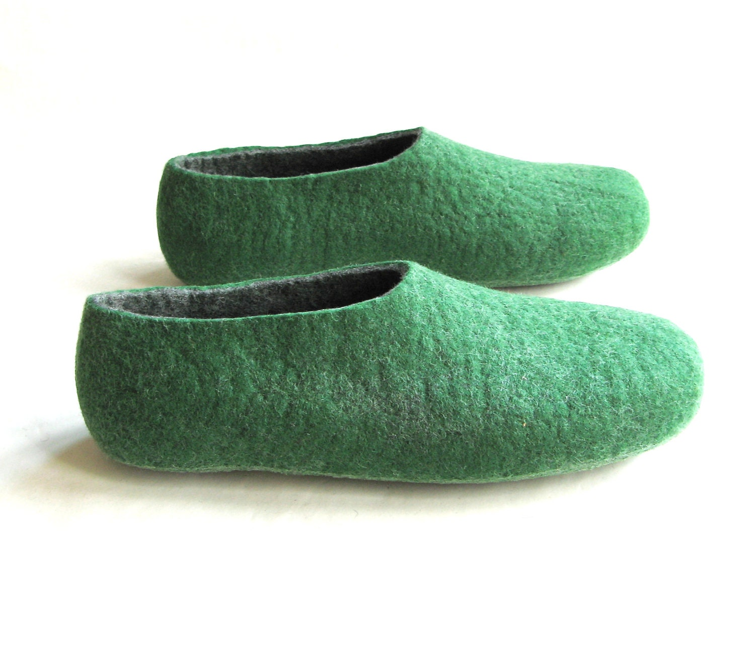 gift for boyfriend wool shoes for felted slippers green