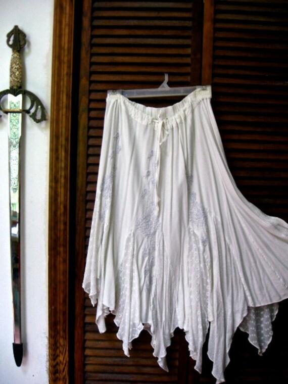 Destash- White  Patchwork Pixie Skirt