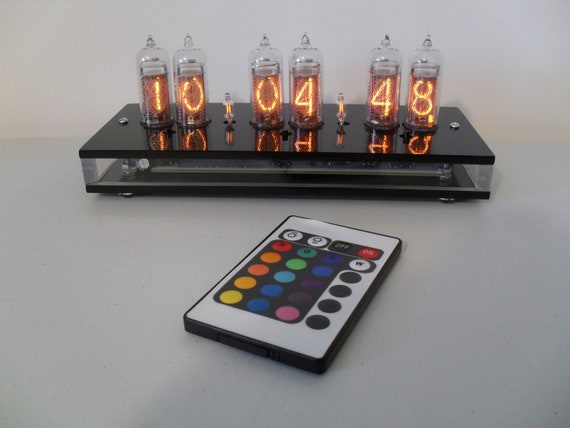 """Six Digit Nixie Tube Clock the """"Bellissimo Colore"""""""