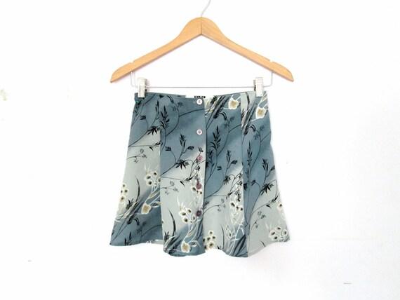 90's Floral mini skirt size - XS