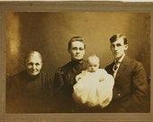 Four Generations, Early 1900's,  Photography, Real Photo, Vintage Photo, Antique, Collectibles, Snapshot