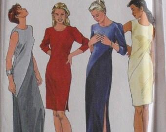 Asymmetrical Bias Dress Sewing Pattern - Simplicity 8419 - Sizes 6-8-10, Bust 30 1/2 - 32 1/2, Uncut