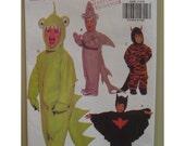 Childs Shark Costume Pattern, Dragon, Devil, Monster, Bat Man - Butterick No. 6386 UNCUT Size 1 2 3 4 5 6