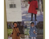 Girls Lined Coat, Fur Trim, Empire Waist, Bolero, Long or Short, Vogue For Me No. 9935 UNCUT Size 2 3 4 5