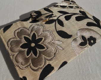 Wallet - Black and Tan Floral