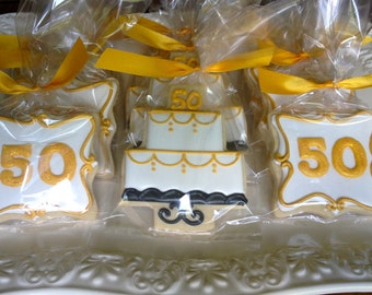 50th Anniversary Celebration Sugar Cookies Customizable
