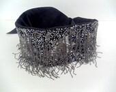 Beaded Tassel and Sequins Sash Belt