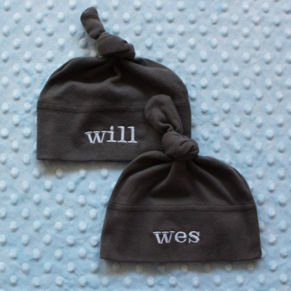 Baby Hat for TWINS Personalized  Custom The Best Baby Shower Gift  infant - 2 year old Unique and Custom