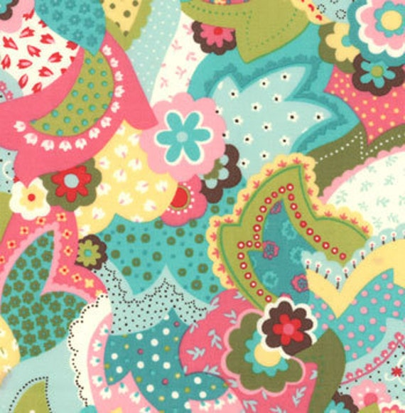 Sophie's Overlay Chez Moi in Blue Fiesta  for Moda 1 and 3/4 yard