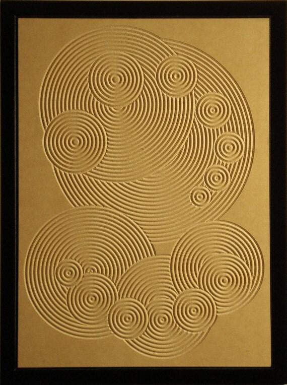 Crop Circle Wood Relief - 18x24 - Circular Sunday