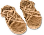 "Soft Rope Sandals-""Jesus sandals"" -Size W10 M9/Natural/Nomadic/Boho chic/Hippie/Vegan/Natural/Barefoot feeling/unisex"