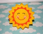 Boutique Smiley Sunshine Sun Shine felt hair clip