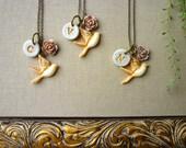 Bird Bridesmaids Necklaces  -  Set of 3