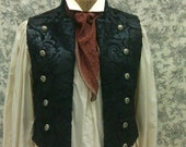 Mens Vest--Victorian--Steampunk Air Captain--Edwardian--Gothic--Mens High Cut Double Breasted Vest--Made to Order--Custom