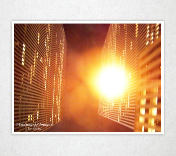 Bright Lights Looking Up - New York, NY 8x12 Fine Art Photography