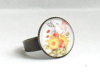 Yellow Bouquet Ring