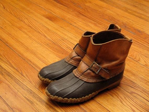 mens vintage LL bean maine hunting shoe