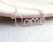 Custom Name Necklace, Silver, Personalized Name Necklace, Custom Name Necklace, Name on a Necklace, Name on a chain, My Name Necklace