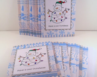 Set of 18 Christmas Cards: Have a cool Christmas