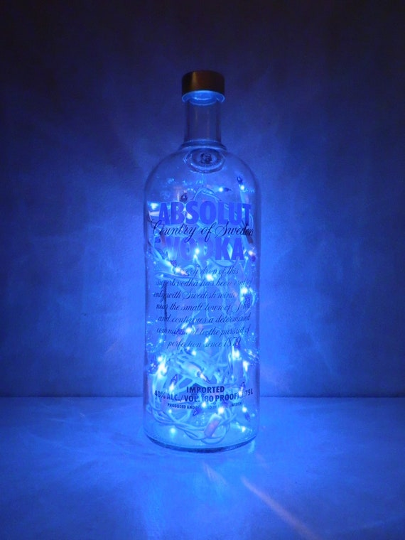 Absolut Vodka Blue Lighted Bottle By Bomolutra On Etsy