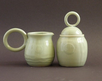 Celadon Glazed Sugar & Creamer set.