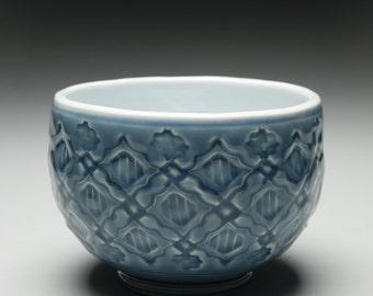 light blue porcelain bowl