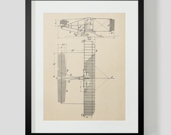 Vintage Flying Machine, Airplane Print 7