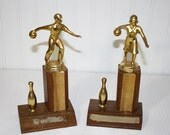 His and Hers Bowling Trophies