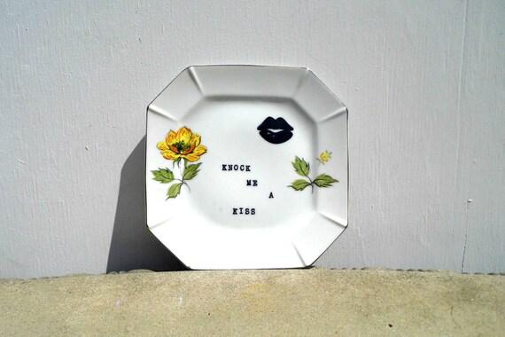 Vintage Plate, Upcycled Vintage, Knock Me A Kiss, Wall Decor