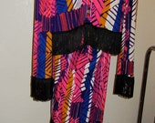 Fringe Psychedelic Pant Suit SZ Med Crazy Cool Martina for Ermar Fashions California