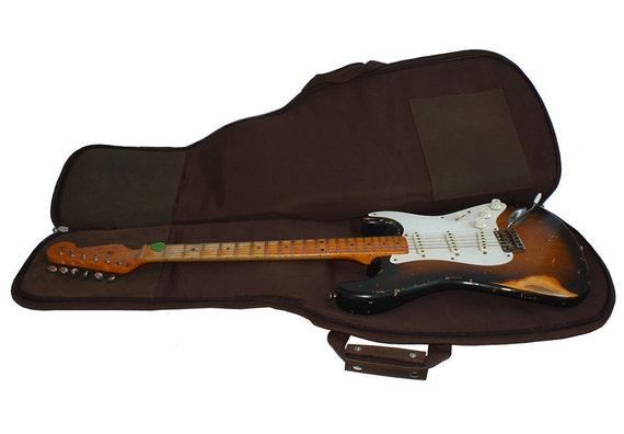 leather guitar case gig bag backpack distressed rich. Black Bedroom Furniture Sets. Home Design Ideas
