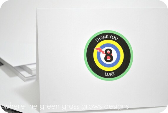 Laser Tag Note Cards
